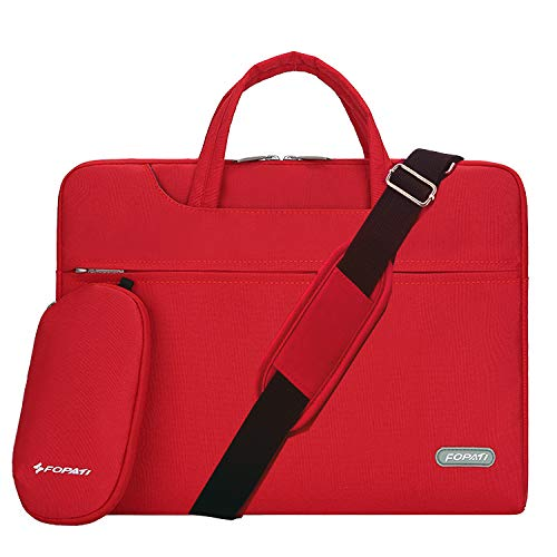 YOUPECK Water Repellent 11-11.6 Inch Laptop Shoulder Bag Compatible MacBook Air 11 12, Surface Pro, Sumsung Tab Polyester Protective Messenger Briefcase Men Women Carrying Handbag Sleeve Case, Red (Lenovo Yoga Tab 3 8 Case Cover)