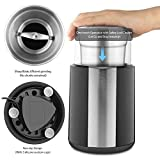 QUELLANCE Electric Coffee Grinder, Stainless