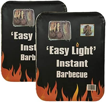 Disposable Charcoal Grill On The Go Ready to Use Easy to Light 2 Pack Product Name
