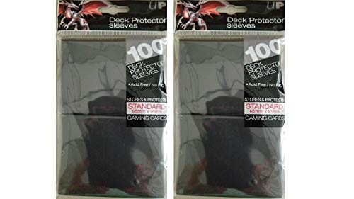 Ultra Pro (200) Black Deck Protector Sleeves 2-Packs