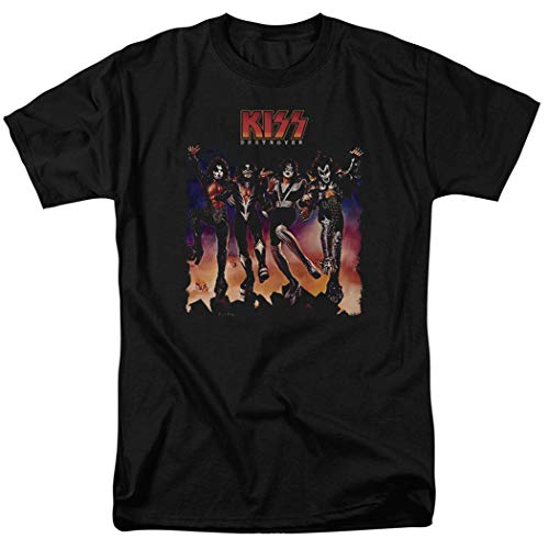 KISS Destroyer Rock and Roll T Shirt & Exclusive Stickers (XX-Large) - Logo Kiss T-shirt