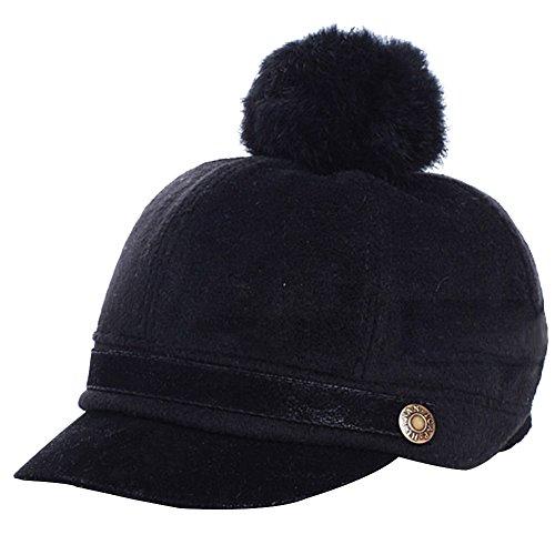 eYourlife2012 Kids Children Baby Felt Woolen Peaked POM POM Knight Equestrian Baseball Cap Hat