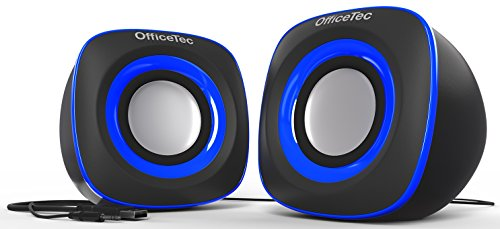 OfficeTec USB Speakers Compact 2.0 System for Mac and PC (Blue) by OfficeTec (Image #2)