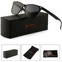 SUNGAIT Polarized Wayfarer Sunglasses (Black)