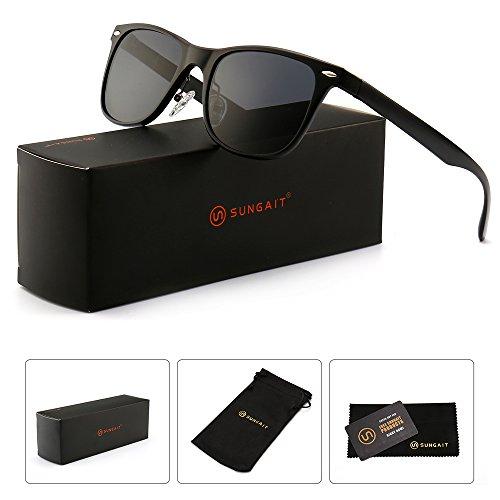 SUNGAIT Polarized Wayfarer Sunglasses for Men Women - Classic Full Metal Frame Style