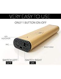 Mini grabadora de voz USB con memoria de 8 GB en uno, 384 Kbps, grabadora de voz digital silenciosa, pequeña y portátil para profesionales y estudiantes, edición dorada