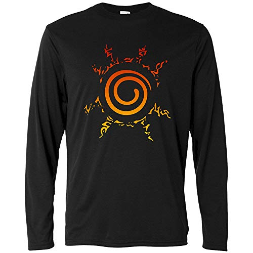 Manga Camiseta Color Tincuri Seal Naruto xxl Larga Logo xs Negra C5wwaq