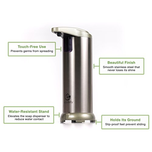 Large Product Image of EcoDefy Automatic Touchless Hand Soap and Sanitizer Countertop Dispenser