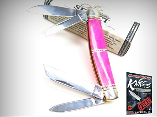 ROUGH RIDER Pink Smooth Bone SILVER SELECT CONGRESS 4 Blade Folding Knife 0011311 + free eBook by ProTactical'US
