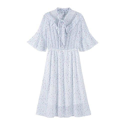 Peu Robe 165 Blanc Robe Ton MiGMV Robe de Mousseline de L Avant Frais Plage Femme 88A 0311 Jupe B07f5qfw