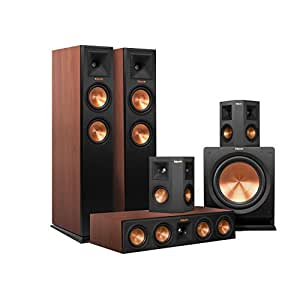 Klipsch RP-250F Home Theater System Bundle (Cherry with Black Surrounds and Subwoofer) with Denon AVR-X2200W