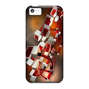Iphone 5c Cases Covers Skin : Premium High Quality Connected Cubes Cases