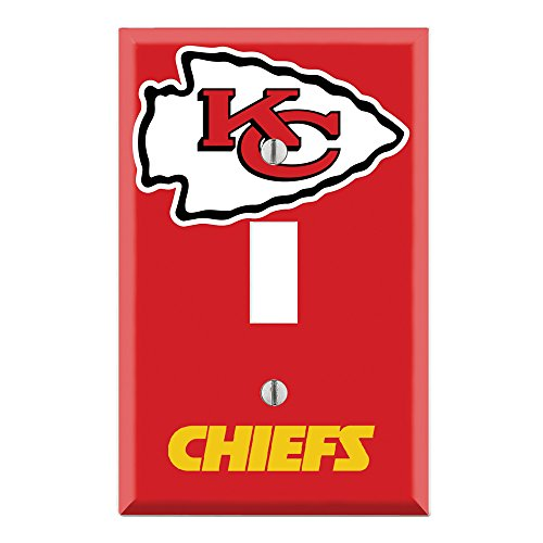 Single Toggle Wall Switch Cover Plate Decor Wallplate - Chiefs
