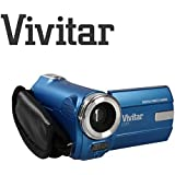 Extrem kompakter Digital-Camcorder Vivitar DVR908M, 8 Megapixel, 720p-HD-Digitalkamera 8 MP (blau)
