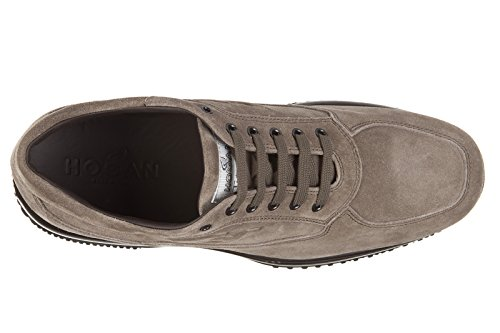 Hogan chaussures baskets sneakers homme en daim interactive h rilievo altraversi