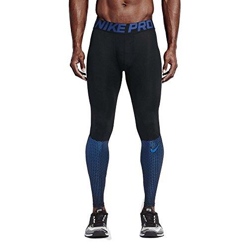 Nike Men's Pro Hypercool Max Training Tights-Black/Royal Blue-Large