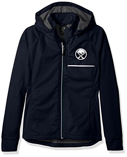 GIII For Her Adult Women Cut Back Soft Shell Jacket, Navy, Large ()