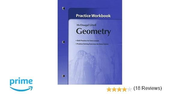 Amazon.com: Holt McDougal Larson Geometry: Practice Workbook ...