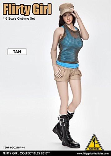 1/6 피규어 용 악세사리/Flirty Girl FGC2017-44 TAN탕 Combat Short Fashion Clothing set 아시안 미인복 세트(소몸과 헤드는 포함하 #지 않습니다)