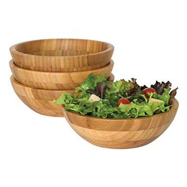 Lipper International Small Bamboo Bowls, Set of 4