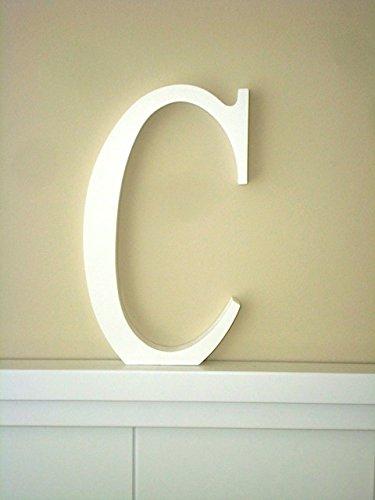 Letra C Letras decoracin Grandes Letras lacadas blancas Altura