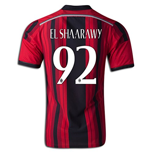 AC Milan Home El Shaarawy Jersey 2014/2015 (Fan Style Printing) - XX Large Red Black