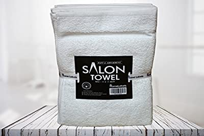 HomeLabels Cotton Salon Towels - Gym Towel - Hand Towel - (24-Pack, White) - 16 inches x 26 inches - Ringspun-Cotton - Maximum Softness and Absorbency, Easy Care