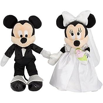 Amazon.com: Disney Mickey & Minnie Mouse Plush Wedding Set 9 ...