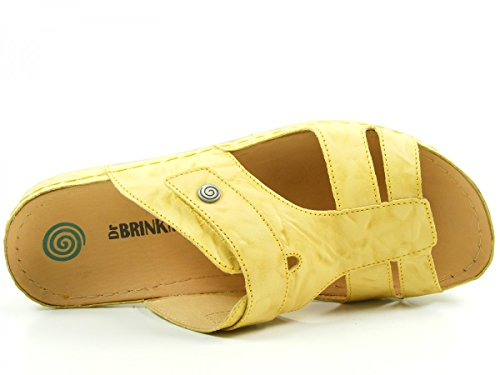 DR.BRINKMANN Damen, Pantoleten Clogs gelb , 700739-6 Jaune