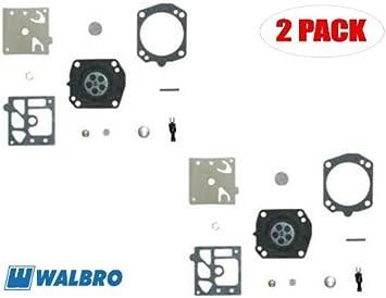 FJSa 2 Pack K22-HDA Carburetor Rebuild Kit Carb Gasket Diaphragm for Walbro Honda GX100 Tanaka TBC422C TEA500 ECS506 650 EHC120 TC47 Stens 615-582 Carburetor