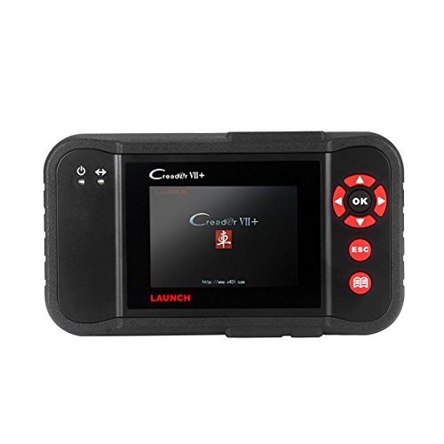 Launch Code Reader Auto Diagnostic Creader VII Plus - including Full OBD2 Functions & Reading/Clearing Codes in Engine, Transmission, ABS and SRS for DIYers & Professional Technicians