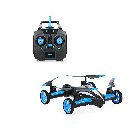 Controlled Flying Toy - ALLCACA RC Car Flying RC Drone Quadcopter 2.4Ghz Remote Control Vehicles with LED Lights and 3D Flip 6-Axis Gyro Headless Mode Radio Controlled Helicopter without Camera (Blue)