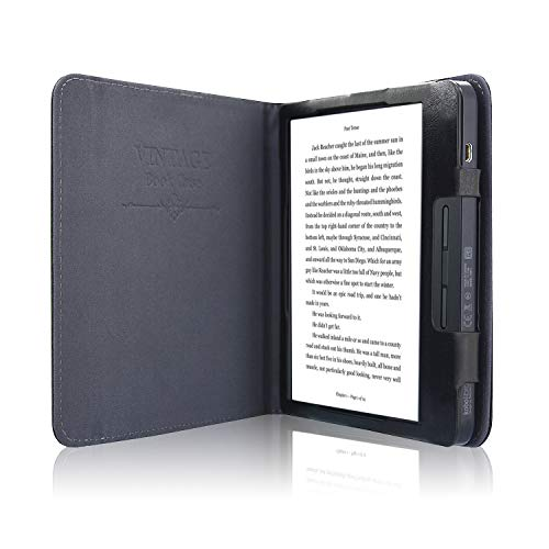 ACdream Kobo Libra H2O Case, Folio Business Pocket Smart Cover Leather Case with Auto Wake Sleep Feature for Kobo Libra H2O 2019 Release, Black