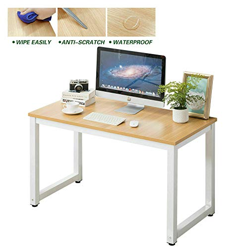 Zomei Computer Desk Sturdy Modern Simple Wooden Metal 47 Home Office Desk Workstation Table