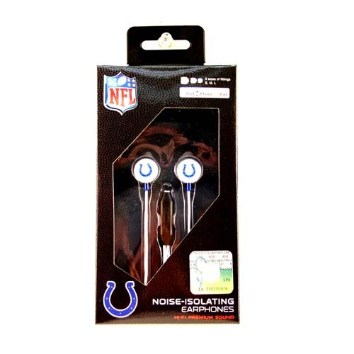 Zeikos NFL Indianapolis Colts iHip Ear Buds with Microphone by Zeikos