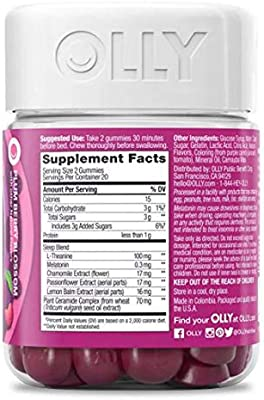 Olly Beauty Sleep Vitamins Gummy! 40 Gummies Berry Flavor! Formulated with Ceramides, Melatonin and L-Theanine! Look and Feel Refreshed! Choose from 1 ...