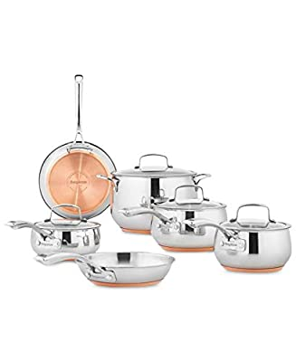 Belgique - Copper Bottom - High End Gourmet 10 Piece Cookware Set