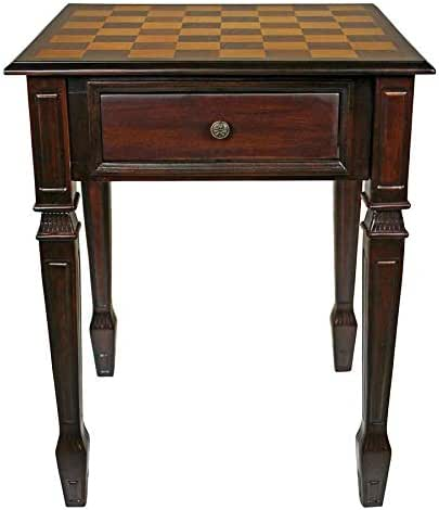 Design Toscano DE302 Walpole Manor Chess Gaming Table Hardwood, 26