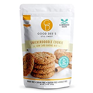 Good Dee's Snickerdoodle Cookie Mix – Low carb, Keto friendly, Sugar Free, Gluten free, Grain Free, Atkins friendly, Diabetic friendly, WW Friendly, 1g net carbs
