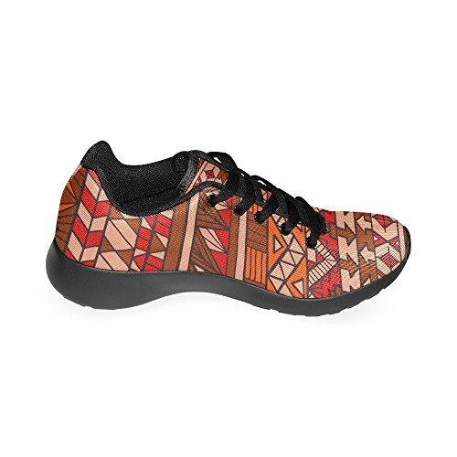 US Aztec 6 Abstract Sneakers Shoes Red InterestPrint Athletic Pattern Casual Print 15 On Lightweight Running Size Women's EqOAnwZ