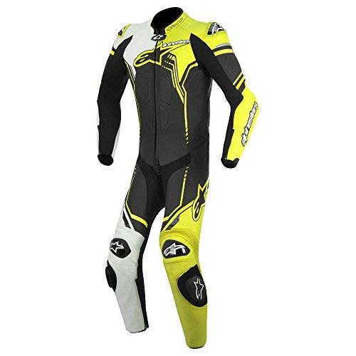 Alpinestars Men's GP Plus Leather Suit (Black/White/Yellow, EU ()