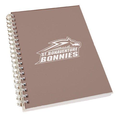 CollegeFanGear St Bonaventure Clear 7 x 10 Spiral Journal Notebook 'Official Logo' by CollegeFanGear