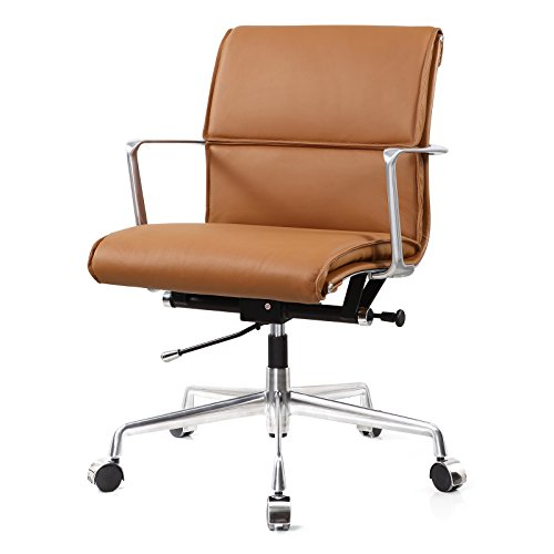 Meelano 347-BRN Italian Leather Office Chair, ()