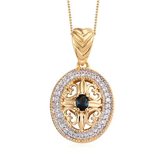 (Monte Belo Indicolite Zircon Pendant Necklace for Women Jewelry 20