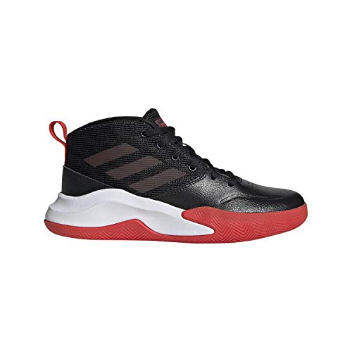 adidas Unisex OwnTheGame Wide Basketball Shoe, Black/Active Red/White, 5.5 W US Big Kid
