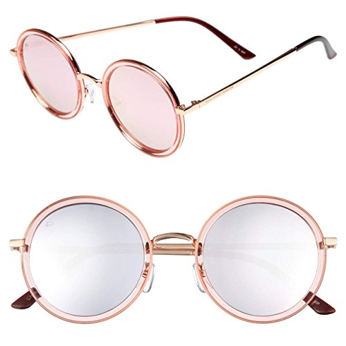 "PRIVÉ REVAUX Madelaine Collection ""Street"" Handcrafted Designer Sunglasses (Rose Gold)"