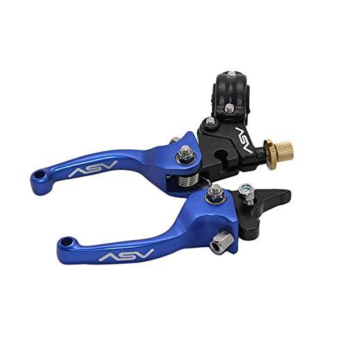 F3 Series Brake Lever - motorcycleFix Clutch Brake for Motorcycle Folding Lever Fit ATV Dirt Bike 7/8''/22mm ASV F3 Series Blue