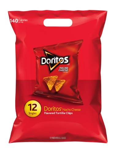 Doritos Nacho Cheese Flavored Tortilla Chips, 12 Singles