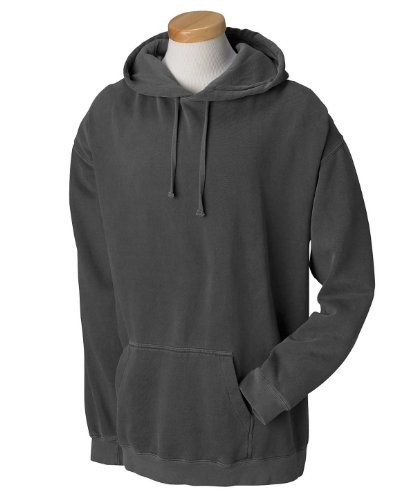 Garment Dyed Pullover Hood (Comfort Colors 1567 Garment-Dyed Pullover Hood - Pepper - XL)
