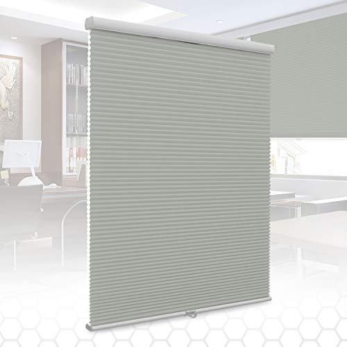 SUNFREE Cellular Shades Cordless Honeycomb Blinds Light Filtering Door Window Shades for Home and Office 46 x 48 inch Grey